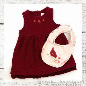 Gymboree Sleeveless Dress & Coordinating NWT Bib